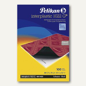 Pelikan Kohlepapier interplastic 1022 G, DIN A4, 100 Blatt, 404400