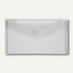 officio Dokumententasche neutral, DL, Druckknopf, rauch glanz, 100 St., 40913-24