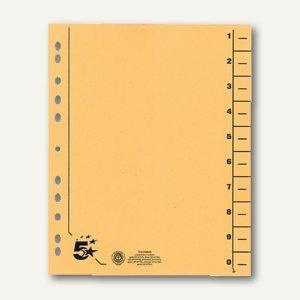 officio Trennblätter für DIN A4, 24 x 30 cm, Karton 230 g/m², gelb, 100 St.