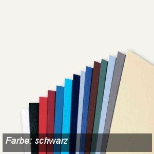 GBC Einbanddeckel LeatherGrain, A4, Karton 250g/qm, schwarz, 100 St., CE040010