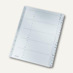 Register, DIN A4, A-Z, verstärkte Lochung/Taben, 20 Bl., 160 g/m², grau, 4328000
