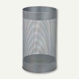 officio Papierkorb aus Metall, 15 l, stabile Ausführung, silber, 2981-36