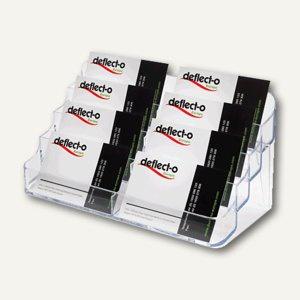 Visitenkartenhalter, 8 Fächer, Hartplastik, 199 x 98 x 94 mm, glasklar, DE70801