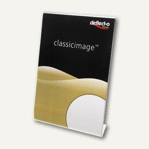 deflect.o Tischaufsteller, DIN A5 hoch, glasklar, 47501