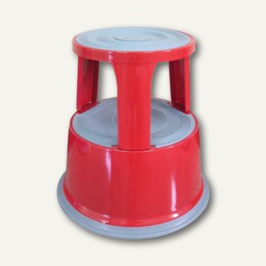 officio Rollhocker, Metall, Höhe 43 cm, Tragkraft 150 kg, rot