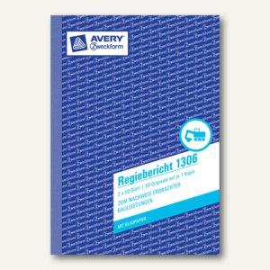 Formular Regiebericht DIN A5 hoch, mit Blaupapier, 2 x 50 Blatt, 1306