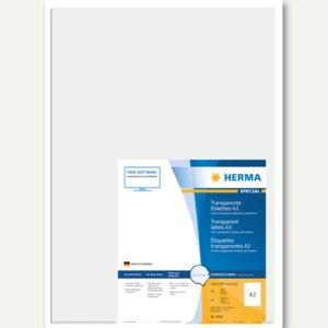 Transparente Folien-Etiketten, 297 x 420 mm, glasklar glänzend, 50 St., 8694