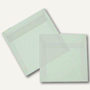 Briefumschlag, 125 x 125 mm, haftkl., 92g/m², transparent-klar, 100 St.
