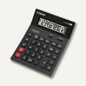 Canon Tischrechner AS-2200, 12-stellig, schwarz, 4584B001 - Vorschau