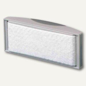 Tafelwischer mit Vlies-Spanneinrichtung, magnethaft., 11.4 x 5.7 cm, grau, 2 St.