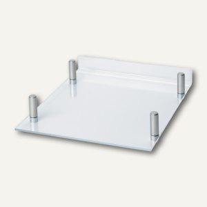 Briefablage MAULacro, 32.2 x 26 x 5.6cm, stapelbar, glasklar, 2 Stück, 1960005