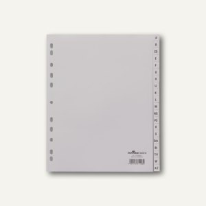 Durable Ordnerregister DIN A4 Überbreite, A-Z, grau, 20 Stück, 6520-10