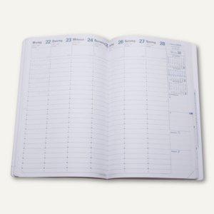 H24/24 Terminkalender-Einlage - 16 x 24 cm, 1 Woche/2 Seiten, weiß, 27003Q