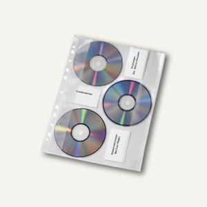CD-Hüllen zum Abheften für 3 CDs, A4, Verschlussklappe, 50 Stück, 4359000