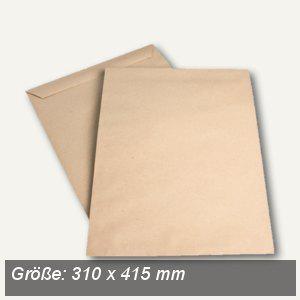 Röntgenfilmtasche 310 x 415 mm, 100g/m², nassklebend, Natron braun, 250 St. - Vorschau