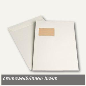 """Versandtaschen """" naturelle"""" C4, Fenster, haftklebend, 120 g/m² cremeweiß, 250 St."""