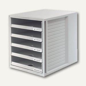 HAN Schubladenbox SCHRANKSET, fünf offene Schübe, lichtgrau, 1401-11