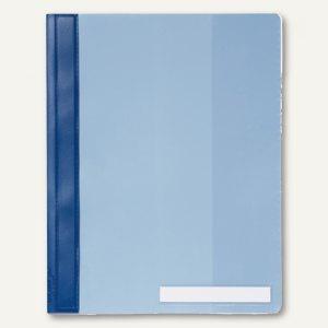 Durable Schnellhefter DIN A4, überbreit, Hartfolie, blau, 25 Stück, 2510-06