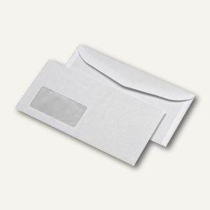 Mailmedia Kuvertierhülle C6/C5, Fenster, nasskl., 75g/m² weiß, 1000 St., 202330