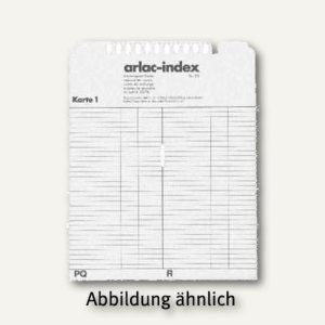 Arlac Ersatzregisterkarten arlac-index 827.00, 210 x 165 x 3 mm, 82700