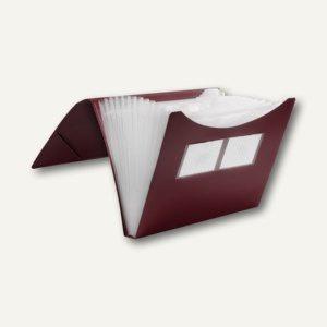 FolderSys Fächermappe A4, PP, 12 Taschen, rot, 10 Stück, 70009-88