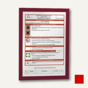 Durable Inforahmen DURAFRAME®, DIN A4, selbstklebend, rot, 2 Stück, 4872-03