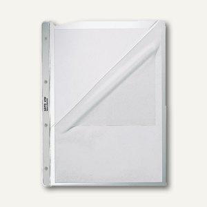 Prospekthülle mit Papiereinlage, DIN A4, 130 my genarbt, oben + links offen, 100