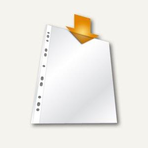 Prospekthülle DIN A4, PP, 40 my, Universallochung, genarbt, 500 Stück, 2660-19