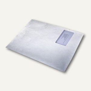 Tyvek Versandtasche C4 mit Fenster, haftklebend, reißfest, weiß, 100 St., 555057