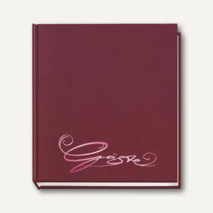 """Veloflex Gästebuch """" Classic"""", 205 x 240 mm, 144 Seiten, aubergine, 5420020 - Vorschau"""