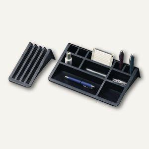 Helit Schreibtischbutler mit Kartenständer, rutschfest, schwarz, H62537.95