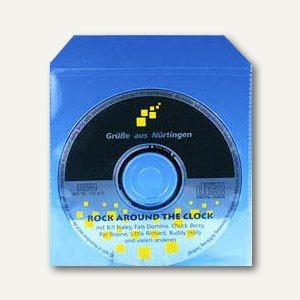 CD-Stecktasche mit Klappe, PP, 125x125x1, Klappe 30mm, 100 Stück, 99193-2