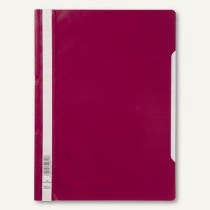 Schnellhefter DIN A4, PP, transparentes Deckblatt, purpur, 50 Stück, 2573-35