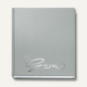 """Veloflex Gästebuch """" Classic"""", 205 x 240 mm, 144 Seiten, silber, 5420083"""