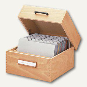 HAN Karteikasten aus Holz, DIN A5 quer, für 900 Karten, 505 - Vorschau
