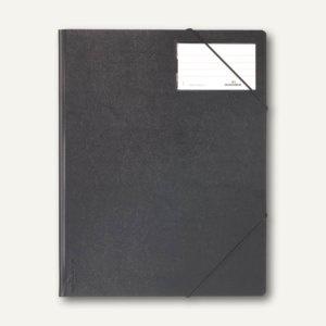 Durable Eckspanner A4 aus Hartfolie, bis 150 Blatt, schwarz, 10 Stück, 2320-01