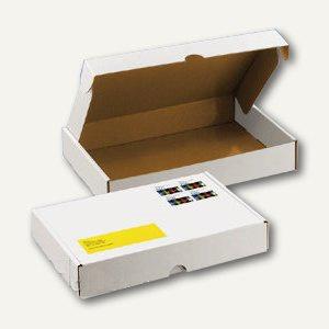 Deckelbox mit Verschlussklappen DIN A5, 245 x 175 x 42 mm, weiß, 100 St.
