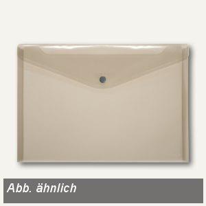 Dokumententaschen neutral DIN A5 quer, rauch, Knopfverschluss, 100 St., 40912-24
