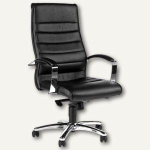 Topstar Bürodrehstuhl TD Lux 10, Leder, schwarz, 8779A80 - Vorschau