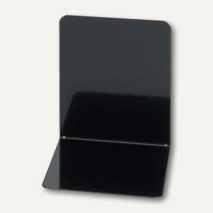 MAUL Buchstütze Metall, breit, 14 x 12 x 14 cm, schwarz, 3 Paar, 3506290