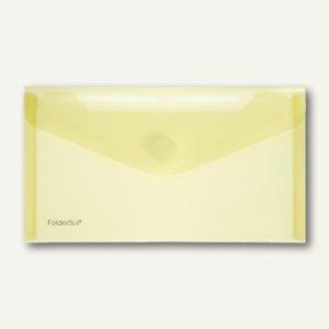FolderSys Dokumententaschen, DIN lang, Klett, gelb, 100 St., 40103-64