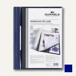 Durable Duraplus de Luxe Angebotshefter DIN A4+, dunkelblau, 25 Stück, 2589-07