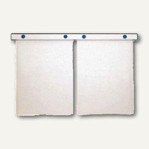 "MAUL Magnet-Wandschiene "" design"", (B)100 cm, inkl. 4 Magnete, silber, 6250094"