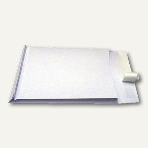 Faltentaschen B4, 40mm Falte, haftklebend, ohne Fenster, weiß, 100 St., 83440