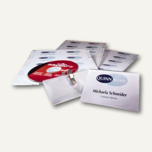 Durable Namensschilder-Set mit Kombiklemme, 90 x 54 mm, Set 20 Schilder, 8182-00