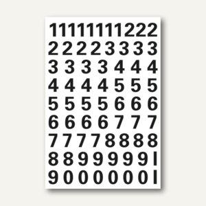 Herma Zahlen, 10mm, 0-9, wetterfest, Folie, schwarz, 10x1 Bl., 4159