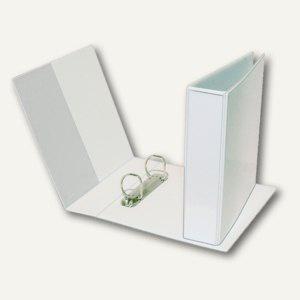 Präsentationsringbuch DIN A5, 2-Ring 35 mm, Rücken 55 mm, Einstecktaschen, weiß,