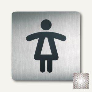 """Durable quadratisches Piktogramm """" Frauen"""", 150x150mm, Edelstahl, 2 St., 4956-23"""