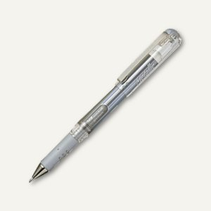Pentel Hybrid Gel-Tintenroller Grip DX Metallic, 0.5 mm, silber, K230-ZO