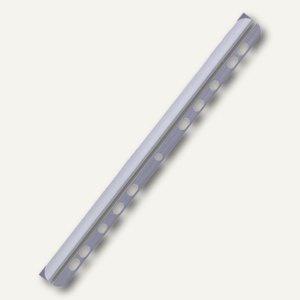 Durable Klemmschienen A4, 6 mm, mit Abheftleiste, transparent, 50 Stück, 2904-19